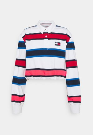 STRIPED RUGBY - Polo shirt - white