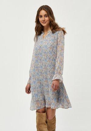 RIKKA - Day dress - dusty blue flower print