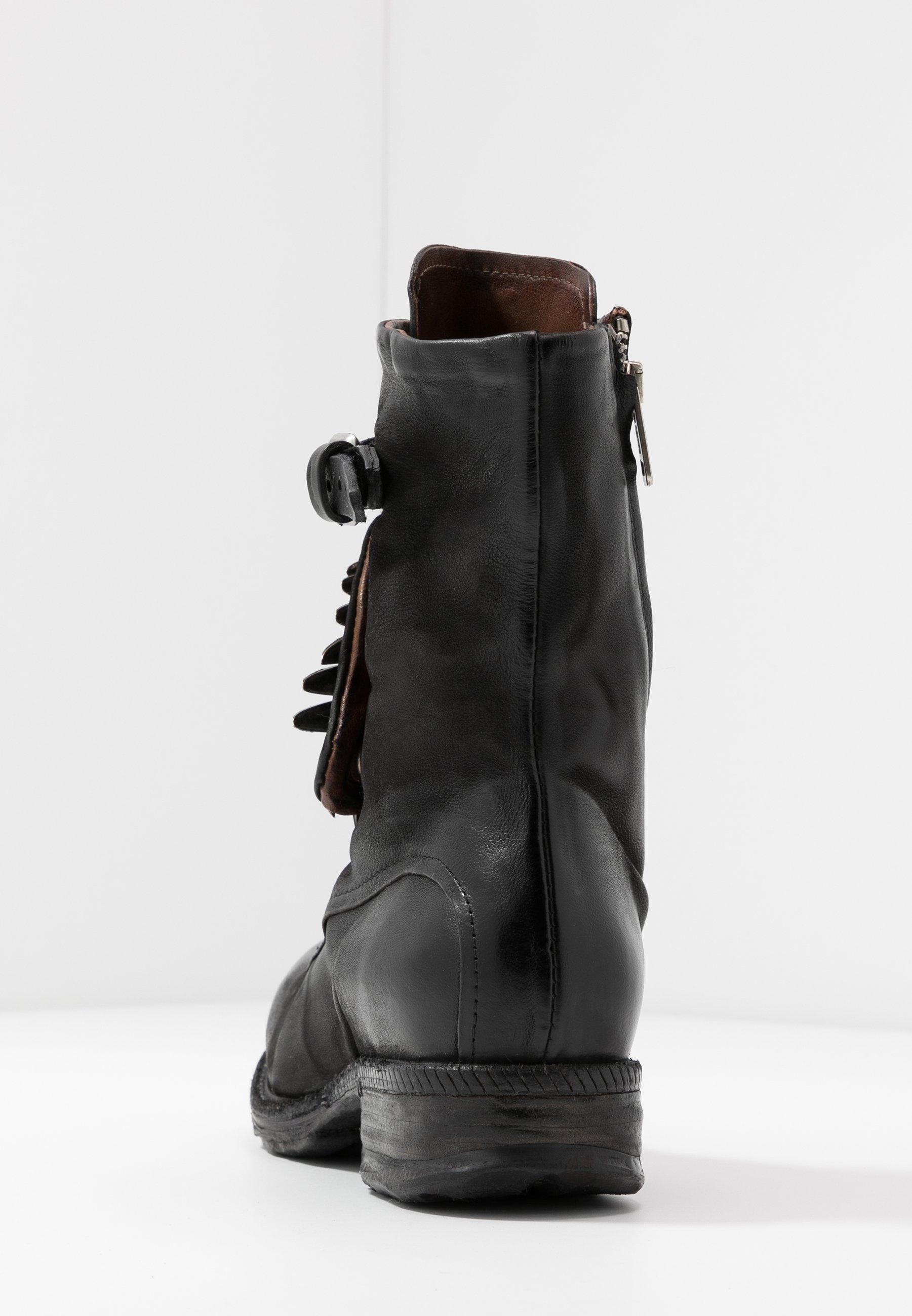 A.s.98 Cowboy- / Bikerstøvlette - Nero
