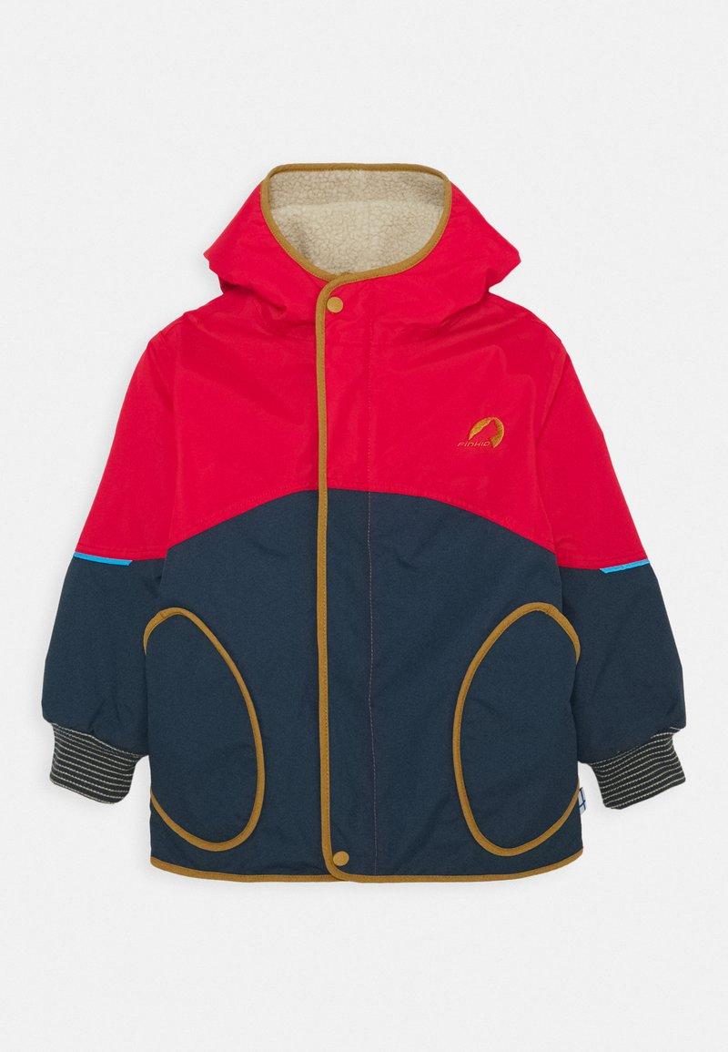 Finkid - NALLE MUKKA UNISEX - Hardshell jacket - navy/cinnamon