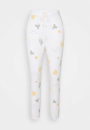 PRINTED COZY JOGGER - Pyjama bottoms - white