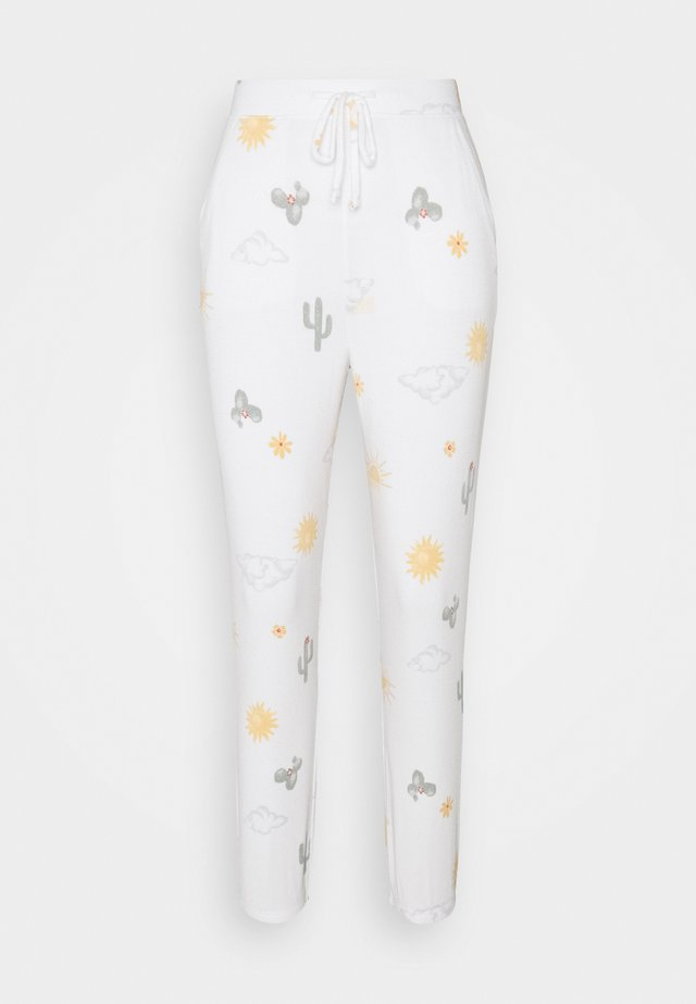 PRINTED COZY JOGGER - Pyjamabroek - white