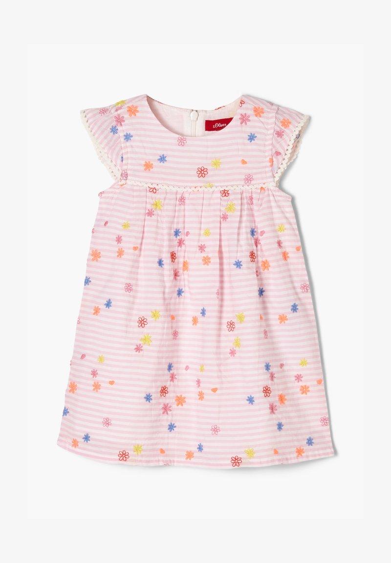 s.Oliver - Day dress - light pink stripes & flowers