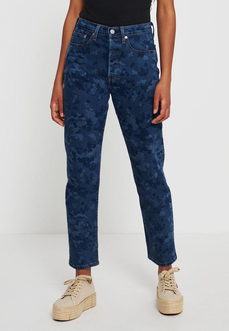 Levi's® - 501® CROP - Jeansy Straight Leg - blue denim