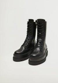 Mango - MONET - Lace-up ankle boots - schwarz - 5