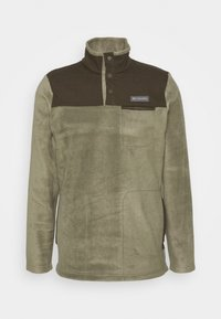 Columbia - COTTONWOOD PARKHALF SNAP - Fleece trui - stone green/olive green - 3