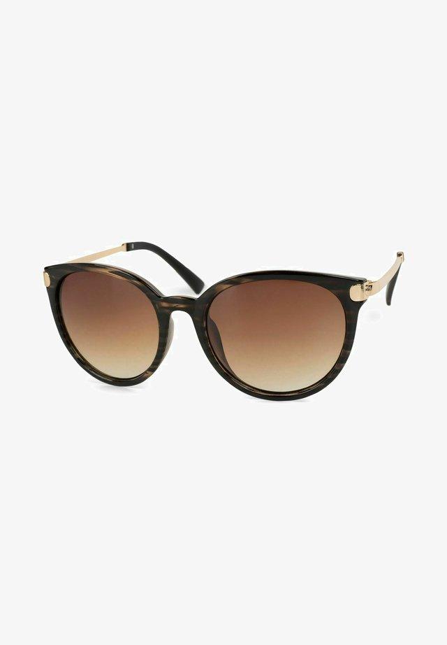 Sunglasses - gestell demi braun-gold / glas braun verlauf