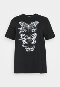 BUTTERFLY GRAPHIC  - Print T-shirt - black