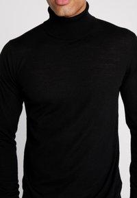 INDICODE JEANS - KERWI MERINO  - Stickad tröja - black - 5