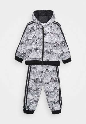 SHINY UNISEX - Tracksuit - white/black