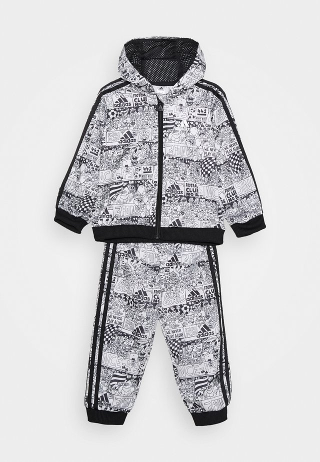 FAVOURITES TRAINING SPORTS TRACKSUIT BABY SET - Träningsset - white/black