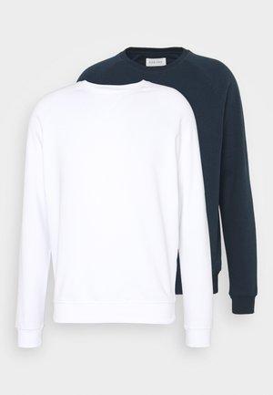 2 PACK - Sweatshirt - white/dark blue