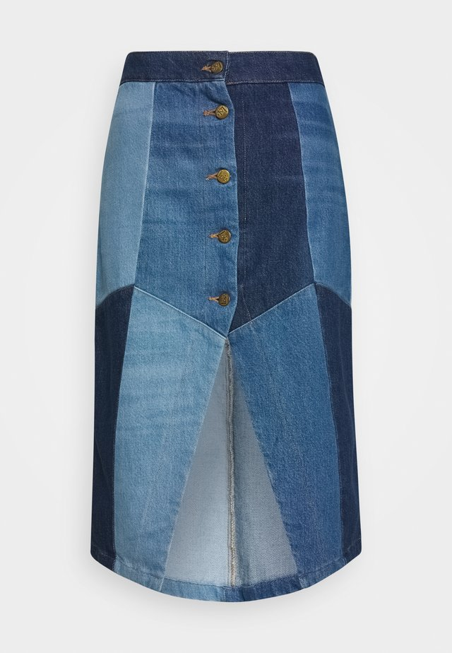 KATRINA - Pencil skirt - blue denim