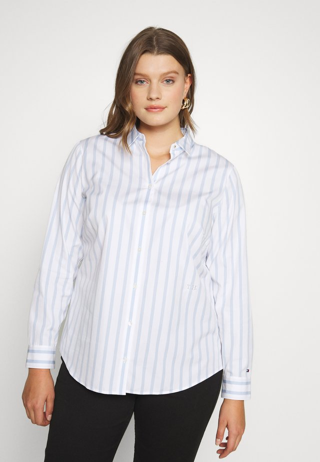 ESSENTIAL - Button-down blouse - blue