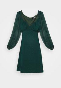 Missguided - MILKMAID SKATER DRES DOBBY - Day dress - dark green - 4