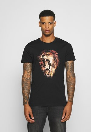 LION - T-shirt con stampa - black
