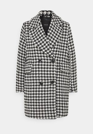 YASHILMA COAT - Klassisk kåpe / frakk - black/white