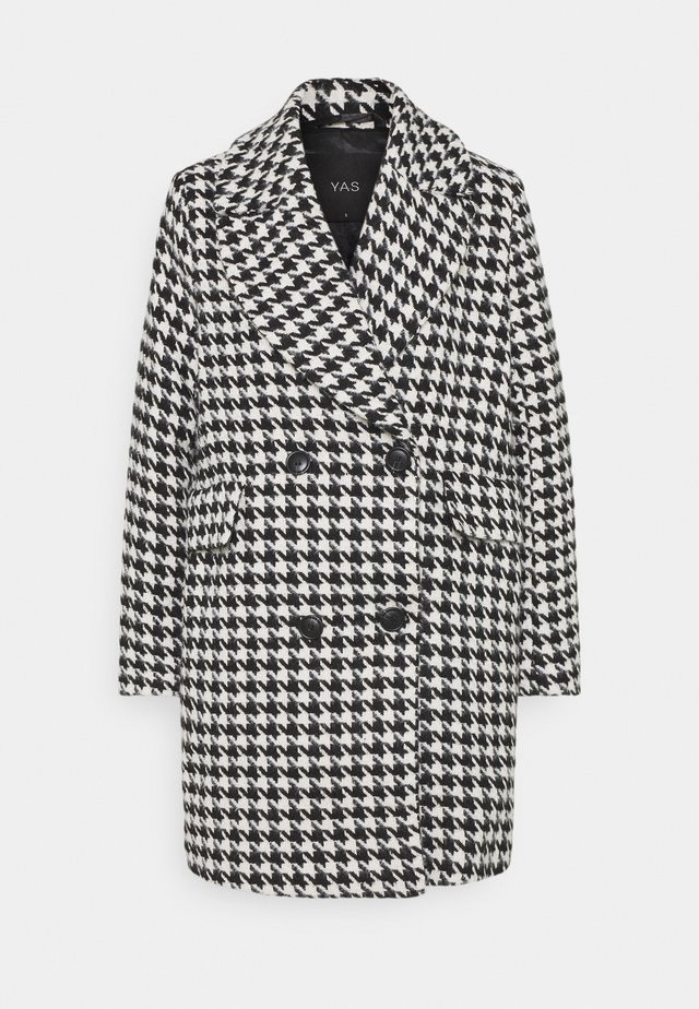 YASHILMA COAT - Mantel - black/white