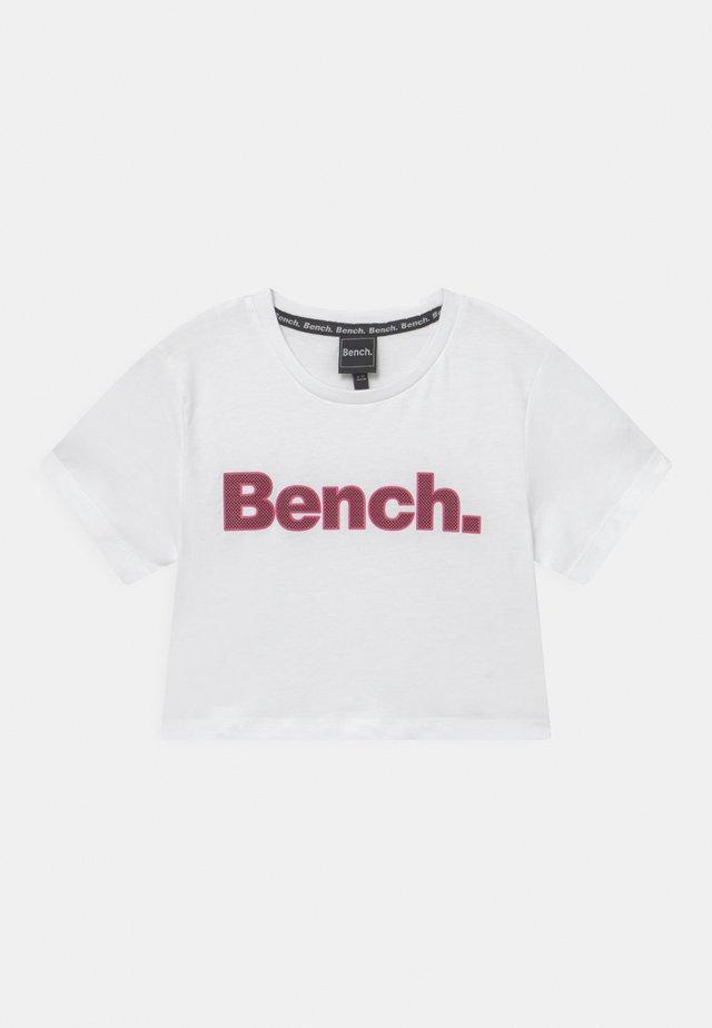 KAY - T-shirt con stampa - white