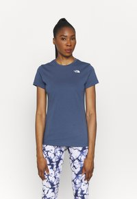 The North Face - SIMPLE DOME TEE - T-shirt basic - vintage indigo - 0