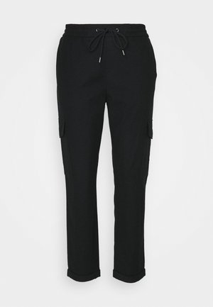 COSY CARGO JOGG PANTS - Trousers - black