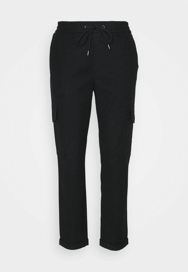 COSY CARGO JOGG PANTS - Kangashousut - black