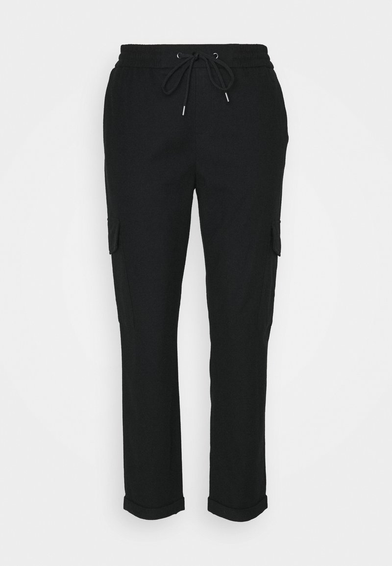 Marc O'Polo DENIM - COSY CARGO JOGG PANTS - Trousers - black