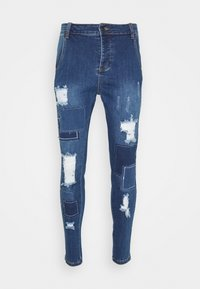 SIKSILK - DISTRESSED PATCH - Jeans Skinny Fit - midstone - 3