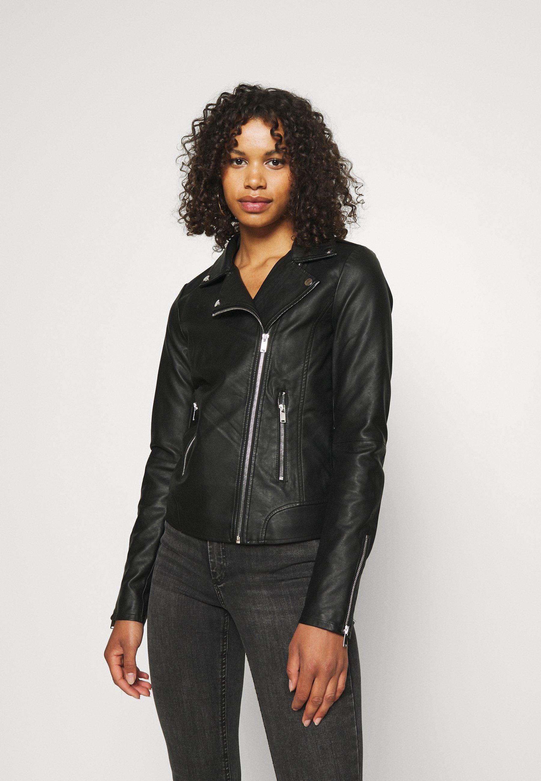 Women VICARA COATED JACKET - Faux leather jacket
