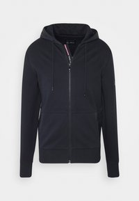Tommy Hilfiger Tailored - MIXED MEDIA ZIP THRU HOODY - veste en sweat zippée - blue - 4