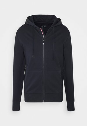 MIXED MEDIA ZIP THRU HOODY - Felpa aperta - blue