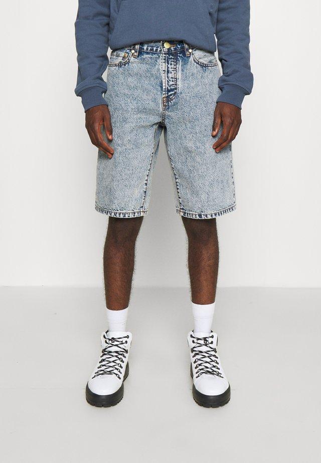 WORK - Short en jean - bleached denim