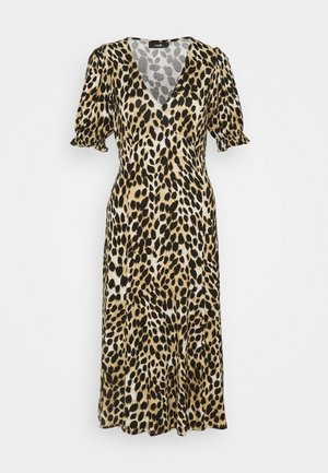 LEOPARD MIDI - Jersey dress - neutral