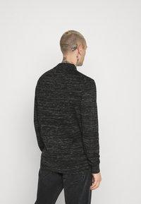 Calvin Klein - HEATHER MOCK NECK - Jumper - black - 2