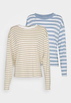 MAJA - Langærmede T-shirts - beige/blue/white