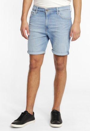 RIDER - Denim shorts - light blue
