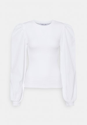 SLEEVE BLOUSE - Long sleeved top - white