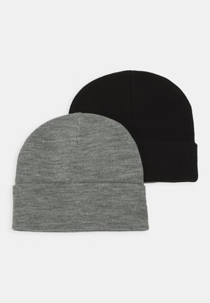 VMMARAN BEANIE 2 PACK - Mössa - black/light grey melange