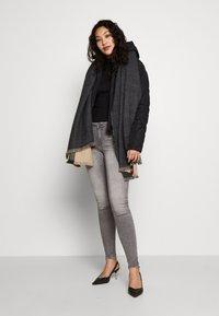 Vero Moda Tall - VMOPHELIA HIGHNECK FRILL - Pullover - black - 1
