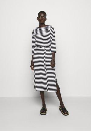 ILMA DRESS - Vestito di maglina - black/white