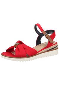 TOM TAILOR - Wedge sandals - red - 1