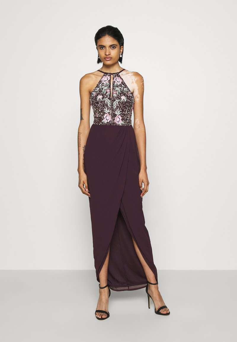 Lace & Beads - MAXI - Occasion wear - burgundy