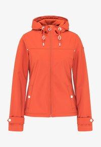DreiMaster - Soft shell jacket - orange rot - 4