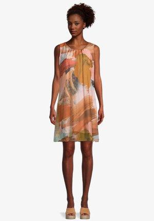 Day dress - patch orange/brown