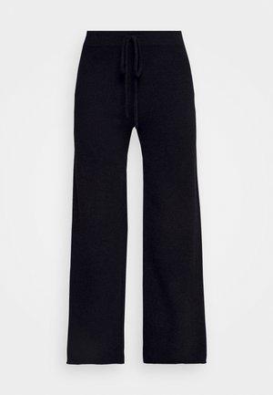 WIDE LEG PANTS - Bukse - black