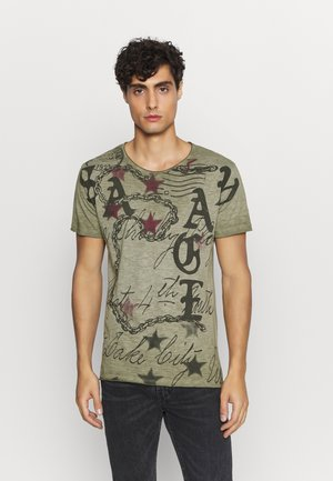 SAVAGE ROUND - Print T-shirt - green