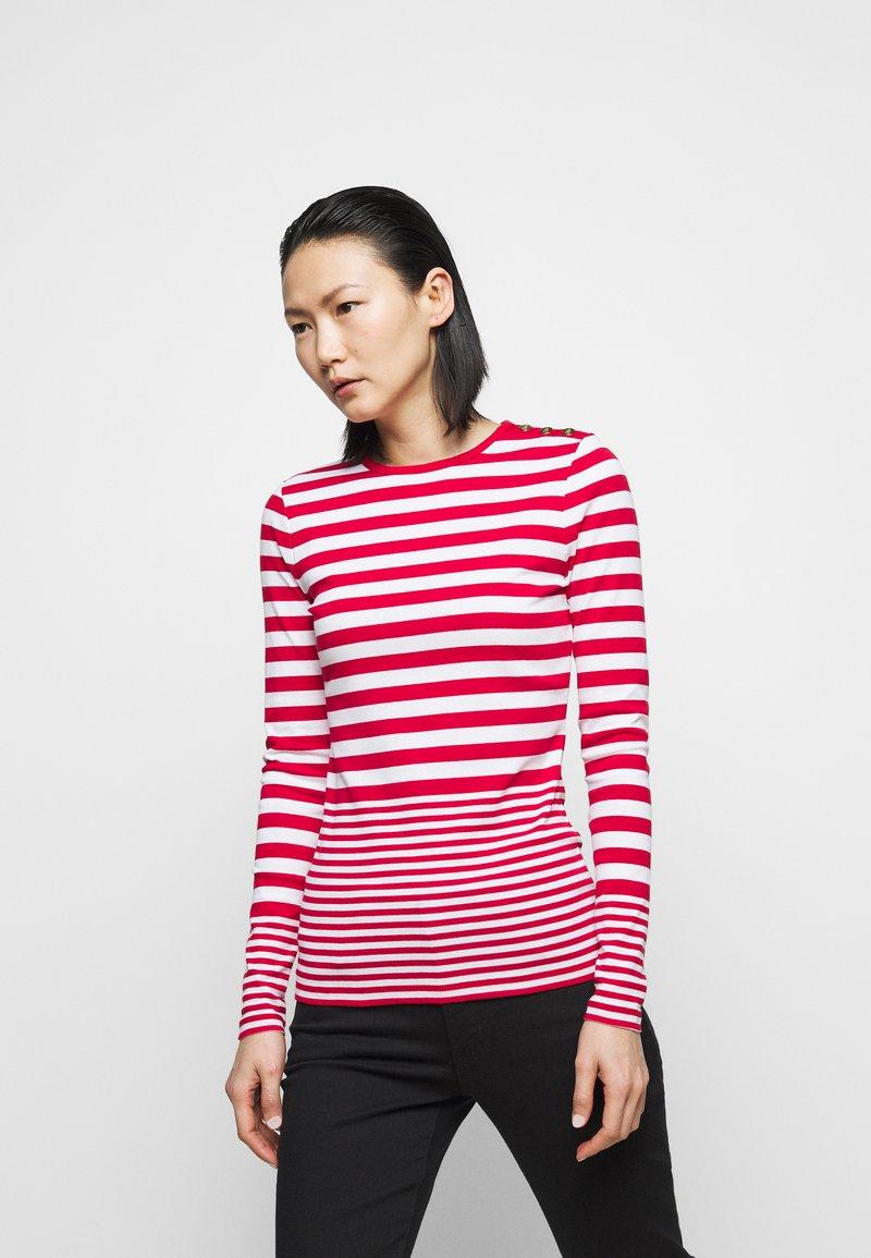 Lauren Ralph Lauren - Long sleeved top - white/lipstick red