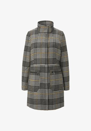 Short coat - black grey yellow check