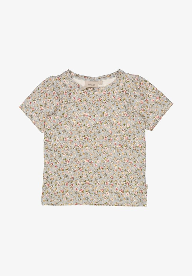 T-shirt print - dusty dove flowers