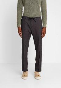 Sisley - Trousers - mottled dark grey - 0